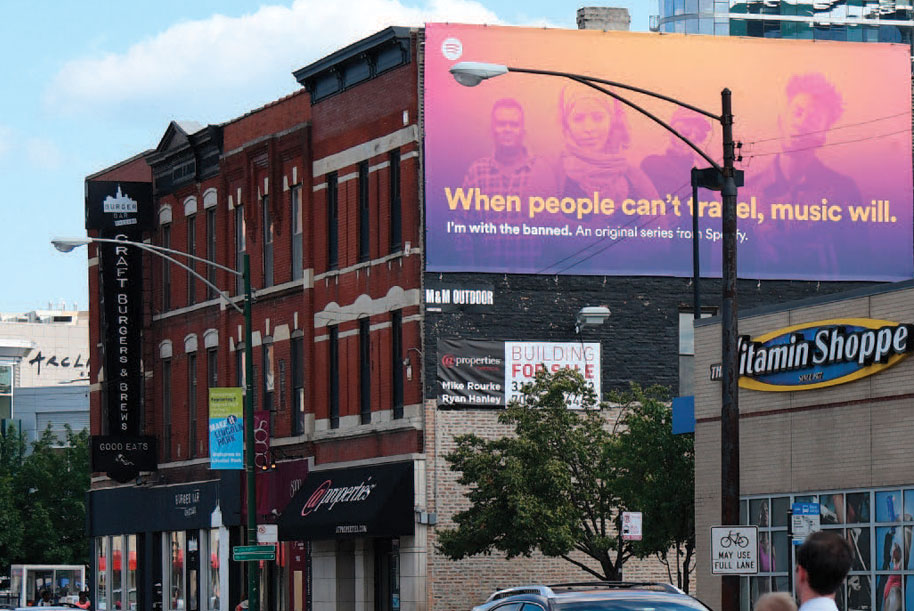 Billboard at West side of Clybourn Ave. at North Ave.