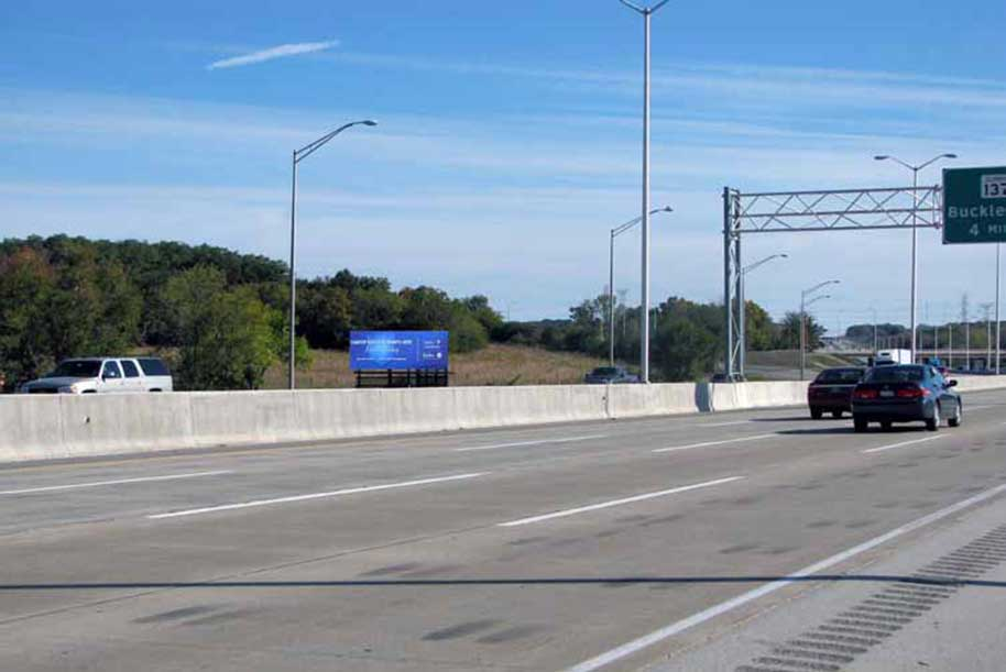 Billboard facing North on I-294 (Tri-State Tollway) South of Grand Ave. (Rt.132)