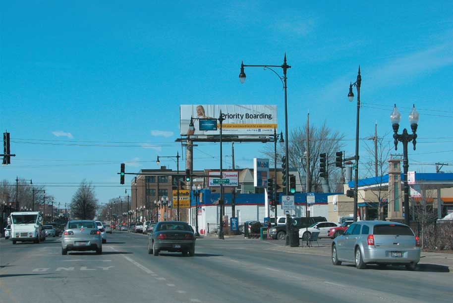 Billboard at North side of irving Park Rd. at Western Ave.